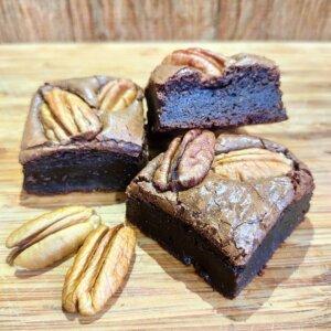 Brownie de chocolate 70% e noz pecan Pólen sem glúten