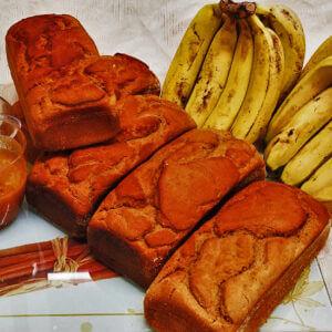 Pão de Banana Mel e Canela sem glúten Polén sem glúten Porto Alegre