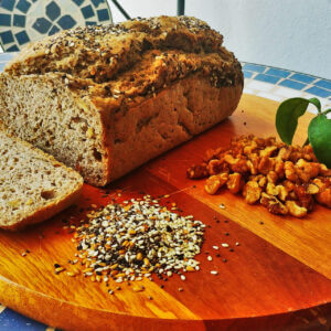 Pão Vegano de Ora Pro Nobis sem glúten Polén sem glúten Porto Alegre