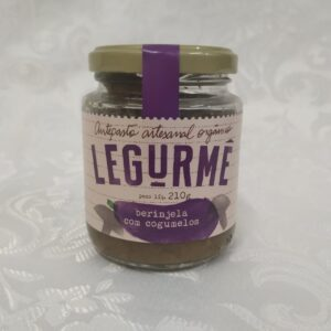 Antepasto Orgânico de Beringela com Cogumelos Legurme Polén sem glúten Porto Alegre