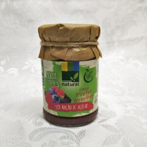 Geleia orgânica de Frutas Vermelhas sem açúcar Coopernatural Polén sem glúten Porto Alegre