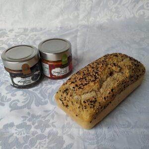Pão sem glúten multigrãos polén sem glúten Porto Alegre e pasta salgada