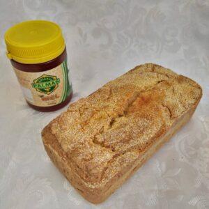 Combinado de pão de milho Pólen sem glúten com mel flor de eucalipto Palmas
