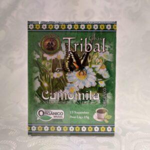 Caixa chá orgânico Camomila Tribal Brasil Pólen sem glúten Porto Alegre