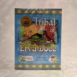 Caixa chá orgânico erva doce Tribal Brasil Pólen sem glúten Porto Alegre