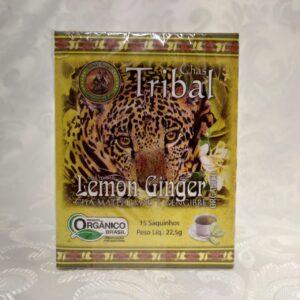 Caixa chá orgânico lemon ginger Tribal Brasil Pólen sem glúten Porto Alegre