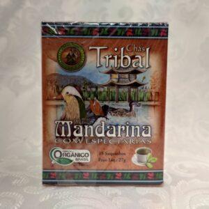 Caixa chá orgânico mandarina com especiarias Tribal Brasil Pólen sem glúten Porto Alegre