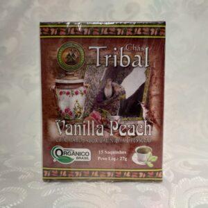 Caixa chá orgânico vanilla peach Tribal Brasil Pólen sem glúten Porto Alegre